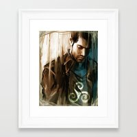 derek hale Framed Art Prints featuring Derek Hale * Tyler Hoechlin  by AkiMao