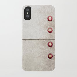 Four on Gray iPhone Case