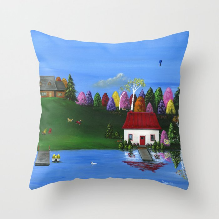 Hilly Hues Throw Pillow