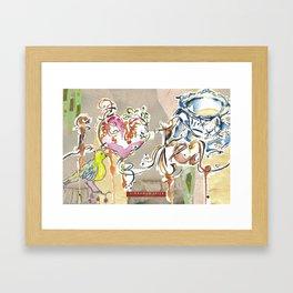 i love tea Framed Art Print