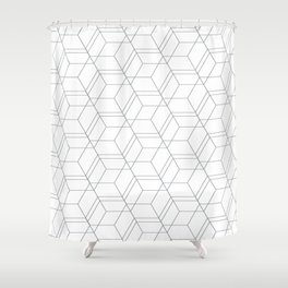 Geometry line pattern Shower Curtain