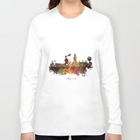 poland Long Sleeve T-shirts featuring Cracow Poland by jbjart