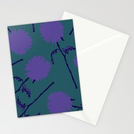 Simple Violette Fleurs Stationery Cards