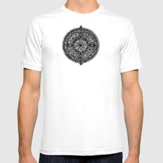 mandala White Mens Fitted Tee SMALL