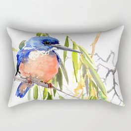 KIngfisher and Weeping Willow Rectangular Pillow