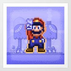 Peace Mario Art Print