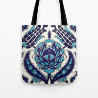 moroccan Tote Bags featuring Moroccan by Faith Dunbar