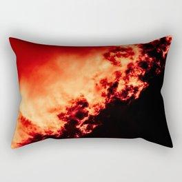 Anger / All red Rectangular Pillow