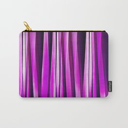 Plum Purple and and Burgundy Stripy Lines Pattern Carry-All Pouch