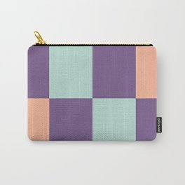 Minimal Abstract Apricot Purple SeaGreen 10 Carry-All Pouch