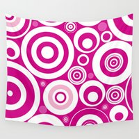 circles Wall Tapestries featuring Circles by Alice Gosling