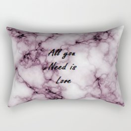 Pink Grey Marble All you need is Love | Marbre Rose Gris Rectangular Pillow