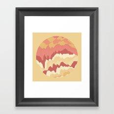 TOPOGRAPHY 009 Framed Art Print