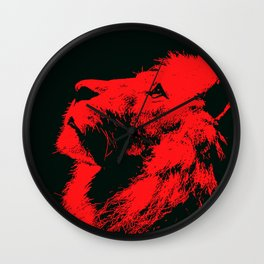Lion, King of Nature Wall Clock