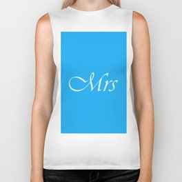 Mrs Monogram : Sky Blue Biker Tank