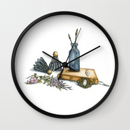 Jane, Will You Have a Flower? Wall Clock