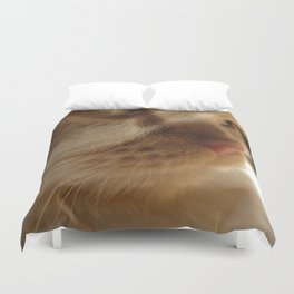 Cute Cat Face Duvet Cover