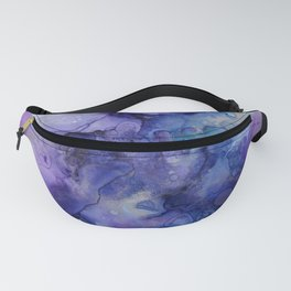 Abstract Watercolor and Ink Fanny Pack