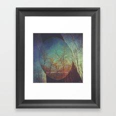 choosing between realities  Framed Art Print