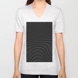 Organic Abstract 02 BLACK Unisex V-Neck