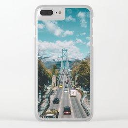 Lions Gate Bridge Clear iPhone Case