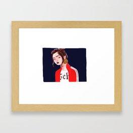 cool jacket Framed Art Print