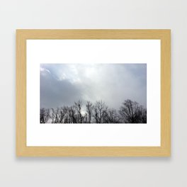 We Hid Our Secrets in the Clouds Framed Art Print