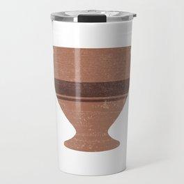 Minimal Abstract Greek Vase 15 - Bell Krater - Terracotta Series - Modern, Contemporary Print Travel Mug