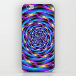 Vortex in Blue and Violet iPhone Skin