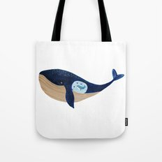 Mother whale Tote Bag
