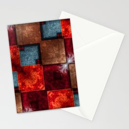 Grunge squares Stationery Cards