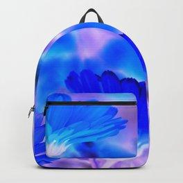 Blue Marigold Gypsy Boho Fantasy Garden Backpack