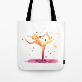 Yoga Chakra Watercolor Painting Tote Bag