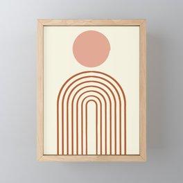 Full moon rainbow Framed Mini Art Print