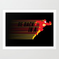 Be Back in a Flash Art Print