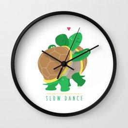 Two Slow Dancing Turtles In Love Wall Clock