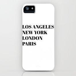 cities iPhone Case
