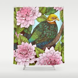 Whistling Fruit Dove in Spring Shower Curtain