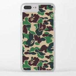 BAPE ABC GREEN CAMO Clear iPhone Case