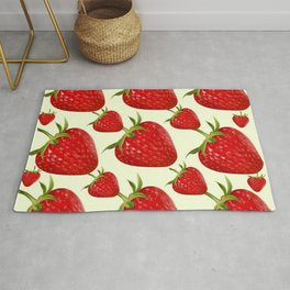 RED STRAWBERRIES PATTERN ART Rug