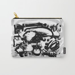 Saint With Bird - b&w Carry-All Pouch