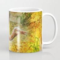 ostrich Mugs featuring Ostrich by Natalie Berman