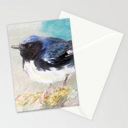 black-throated blue warbler Stationery Cards