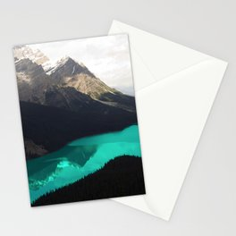 Canada's Stunning Peyto Lake With Majestic Mountains Stationery Cards
