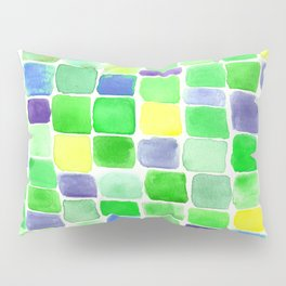 Colorfield Green and Blue Pillow Sham