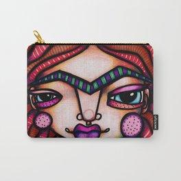 JennyMannoArt Colored Illustration/Frida by JennyMannoArt Carry-All Pouch