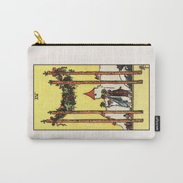 FOUR OF WANDS / WHITE Carry-All Pouch