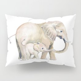 Mom and Baby Elephant 2 Pillow Sham