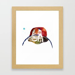 Parallelism, Earth scene Framed Art Print