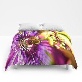 Passion Flower Bee  Comforters